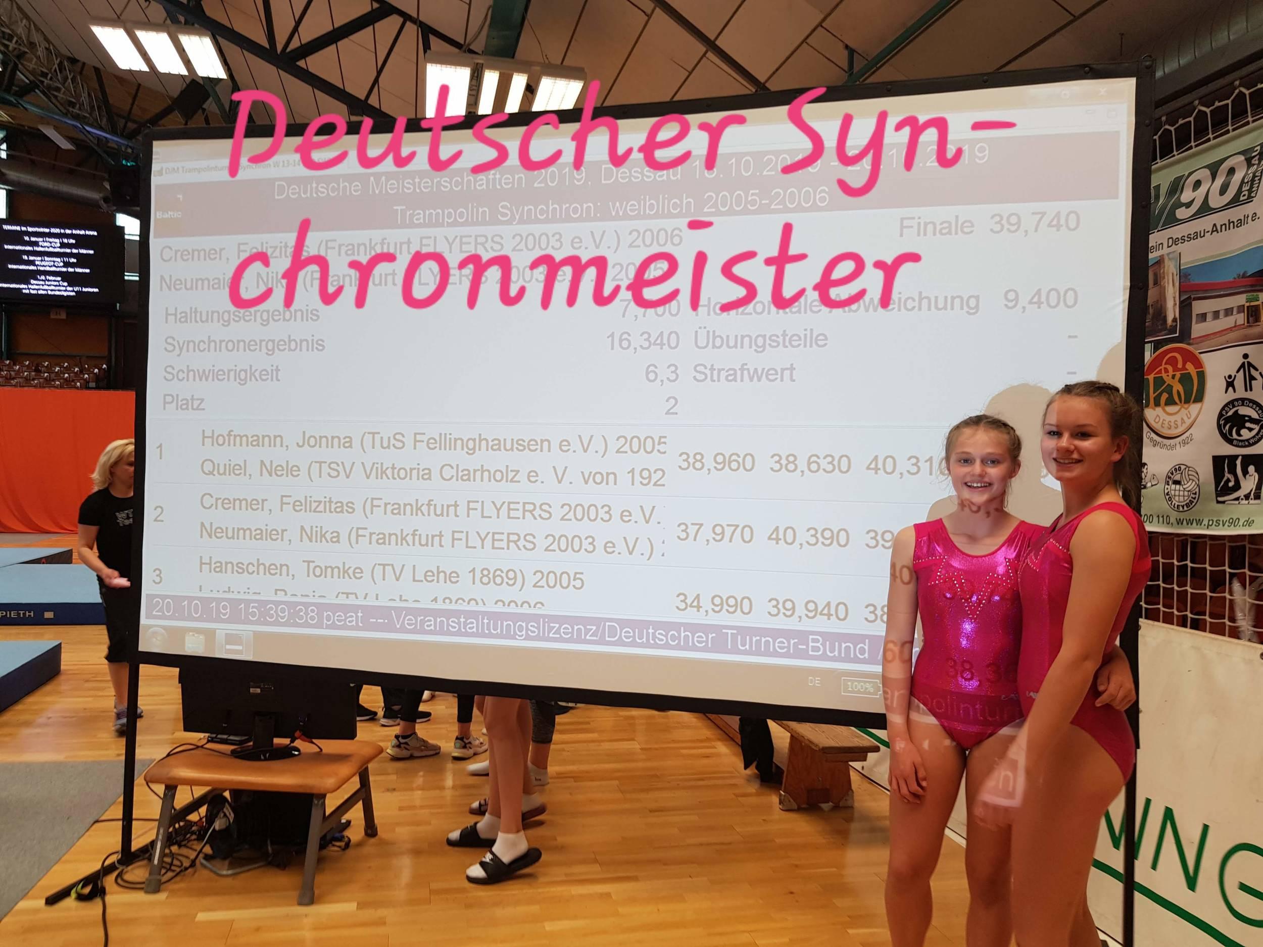 Trampolin<br>Deutsche Synchronmeisterschaften