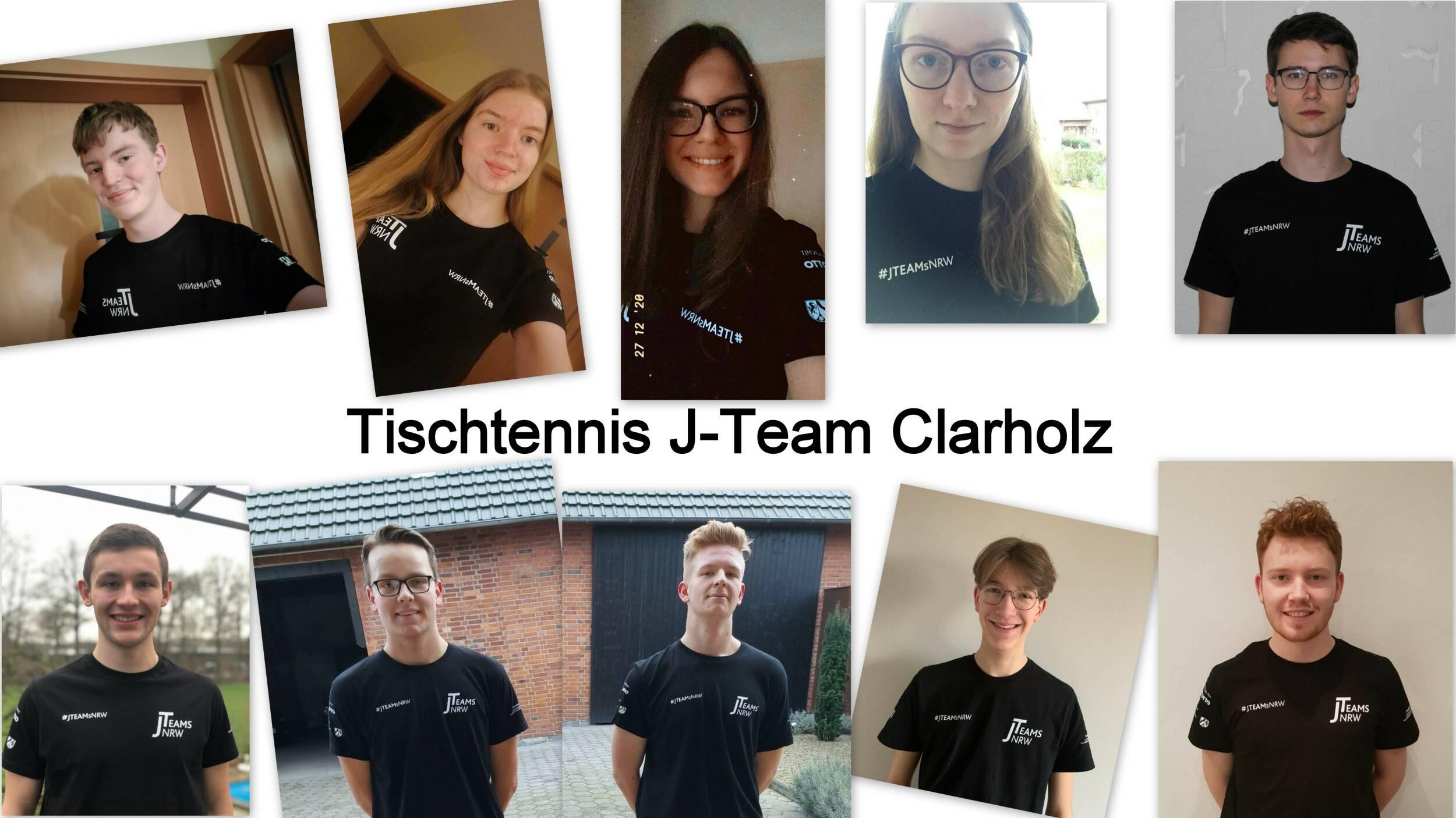 Wir sind das Tischtennis J-Team Clarholz!
