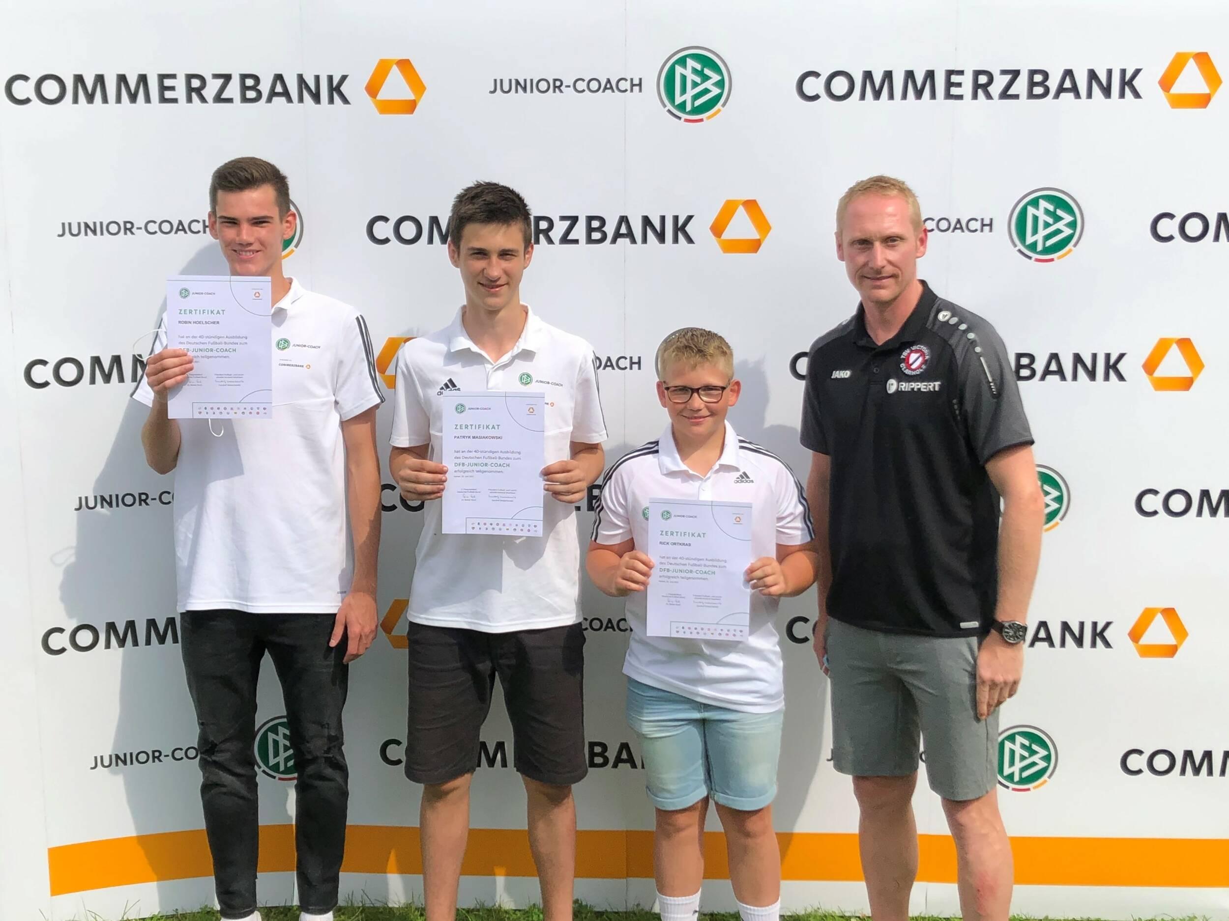 Fußball<br>Neue DFB-Junior-Coaches bei Victoria Clarholz